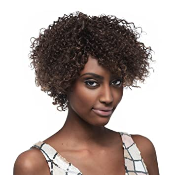 Amazon.com : SLEEK Short Curly Wigs with 100% Brazilian Hair (10 ...