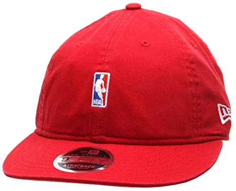 New Era 9FIFTY Low Profile NBA Logo Snapback Cap - Red  Amazon.co.uk ... 6d61fc17b