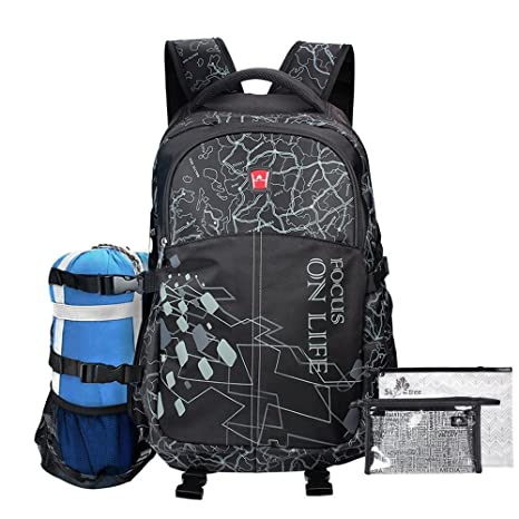 Image Unavailable. Image not available for. Color  Hiking Backpack Travel  Daypack Gym Sports Backpack with Shoe Compartment ... 53c8379592d3b