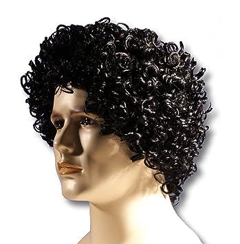 Amazon Com Loftus International Adult Curly Perm Rockstar Costume