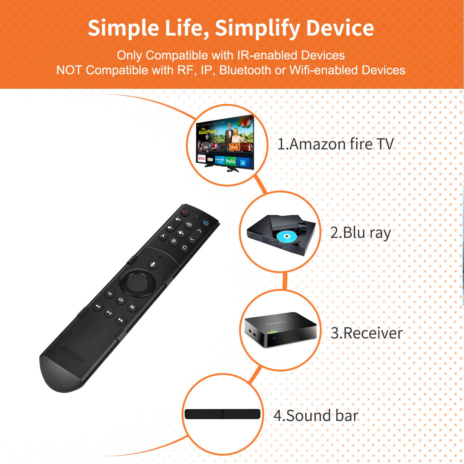 SofaBaton F2 Universal Remote Attachment for Amazon Fire TV Streaming Player with Power Volume and Mute Buttons (Alexa Voice Remote NOT Included) by SofaBaton Remotes (Image #5)