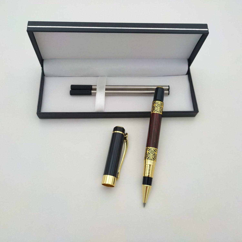 Geschenkbox 140 mm schwarz//rot Accod Fashion Kugelschreiber Student Gel Pen Metall Signature Pen mit zwei austauschbaren Nachf/üllminen perfektes Geschenk f/ür Familie und Freunde
