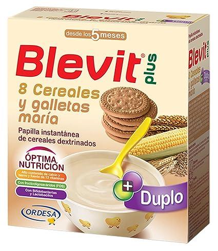 Blevit Plus Duplo 8 Cereales y Galletas María - Paquete de 2 x 300 gr - Total: 600 gr: Amazon.es: Amazon Pantry