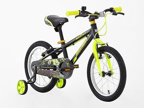 Bicicleta de 16 pulgadas con ruedines, para niño, marco de ...