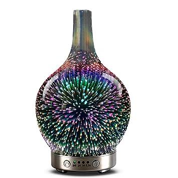 Amazon.com: Difusor de aceite esencial 3D de cristal ...