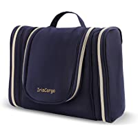 Travel Toiletry Bag with Hanging Hook, IrisCargo, Large Portable Travel Wash Bag for Men & Women, Cosmetic Pouch Case…