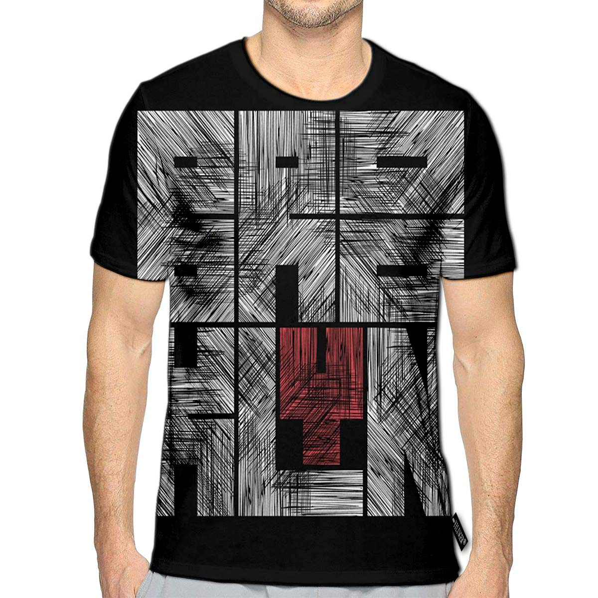 3D Printed T-Shirts Brooklyn Grunge Style Vintage Concept Short Sleeve Tops Tees