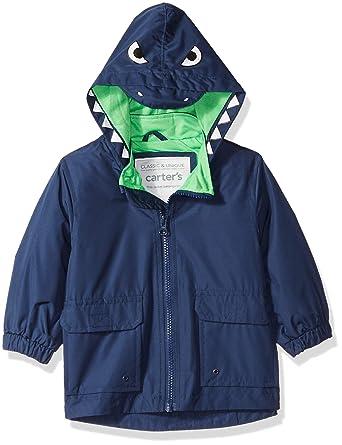 1f2461205 Amazon.com: Carter's Baby Boys Critter Rainslicker Midweight Rain Jacket,  Navy Dinosaur 12M: Clothing