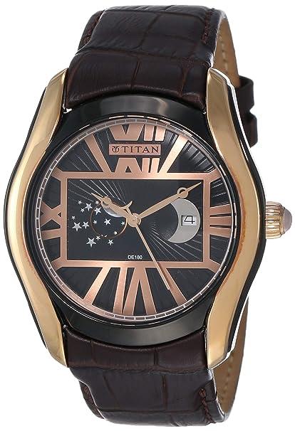 Titan Analog Black Dial Men's Watch   1665KL02 Men's Wrist Watches