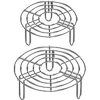 Estante Inoxidable Vapor,2 Piezas Soporte de Acero Inoxidable para Cocinar al Vapor Cocción Redonda Soporte 2 Tamaños…