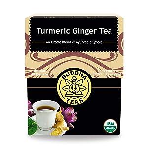 Buddha Teas Organic Turmeric Ginger Black Pepper Tea, 18 Bleach Free Tea Bags