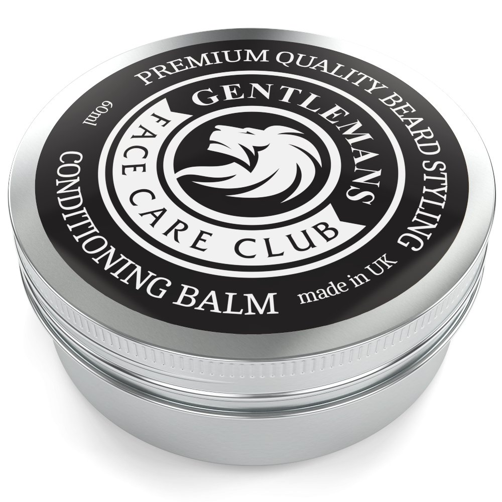 Beard Balm - Premium Quality Conditioning Butter For Creating Beard Styles, Goatees, Sideburns + Moustaches – Extra Large 60ml Tub - Improve Growth, Shine And Add Texture To All Beards - 100% Money Back Satisfaction Guaranteed Gentlemans Face Care Club