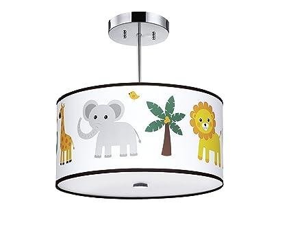 Firefly kids lighting jungle animals light fixture 16 inches3 light