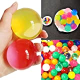 100 PCS Large 5cm Diameter Marble Size Crystal Soil Water Beads Jelly Ball For Vase Filler Plants Kids Toy Home Wedding Decoration