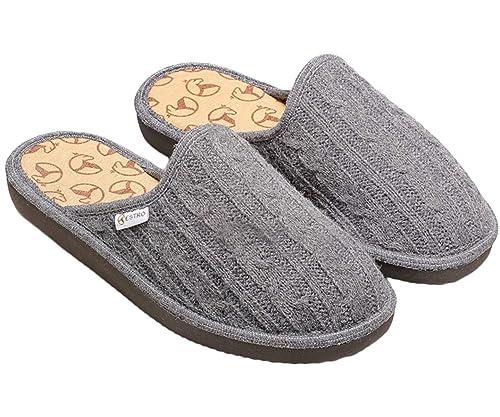 Estro Damen Hausschuhe Pantoffeln Damen mit Wolle Wärme