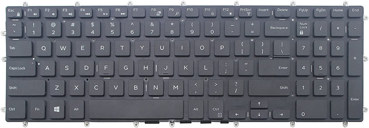 wangpeng New for Dell Inspiron 15 Gaming 7566 PK131Q04A00 0H9P3P SN7251-US US Keyboard
