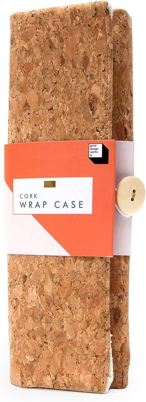 Good Design Works - Estuche de corcho para lápices y lápices, soporte para pinceles, para colorear para adultos, estuche para lápices de arte, estuche de tela, estuche para lápices de maquillaje: Amazon.es: