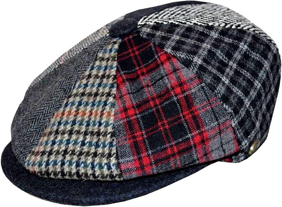 EPOCH Men's Patchwork Plaid Apple Wool Cap Newsboy Cabbie Golf Hat Multi Color