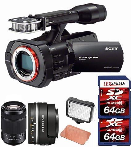 Amazon.com : Sony NEX-VG900 Full-Frame Camcorder (Black) + SAL50F18 ...