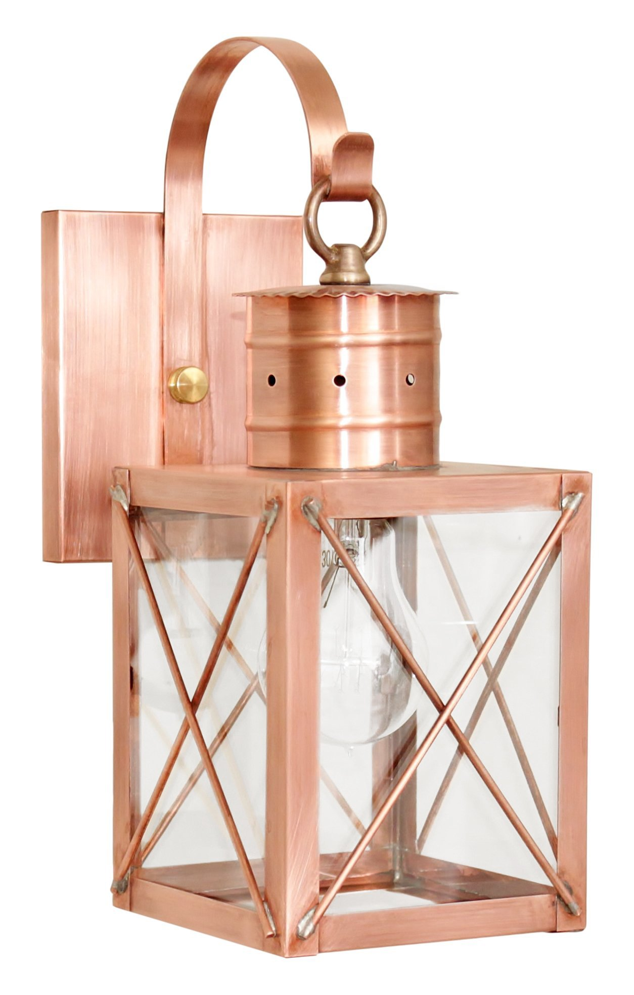 Brass Traditions 231-P CXAC Small Wall Lantern 200 Series Profile Bracket, Antique Copper Finish 200 Series Profile Bracket Wall Lantern