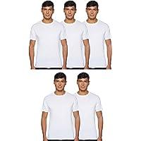 Hanes Men's 5-Pack ComfortBlend Crewneck T-Shirt with FreshIQ