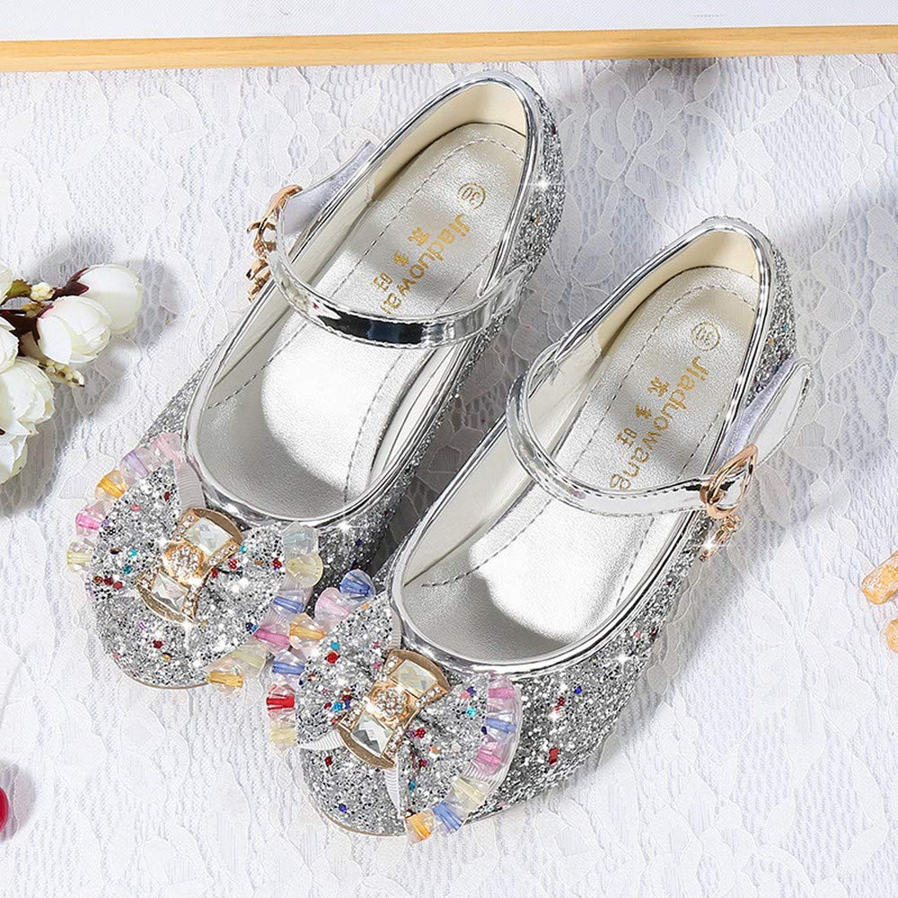 Fashion Shoebox Little Girls Adorable Sparkle Mary Jane Princess Party Dress Shoes