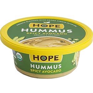 Hope Foods Hummus, Spicy Avocado, 8 Ounce