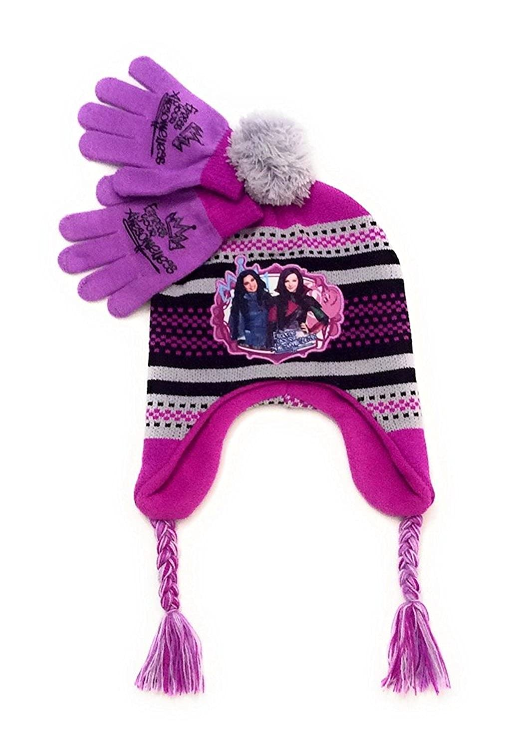 Disney Descendants Hat and Mittens Set, One Size