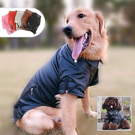 Lovelonglong Chaqueta de Piel para Perro, Abrigos cálidos para Perros, Resistente al Viento, para Perros pequeños, medianos y Grandes