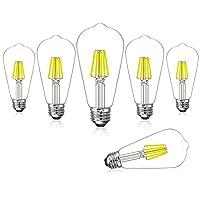 Deals on 6-Pack Coowoo 60W  LED Edison Light Bulbs