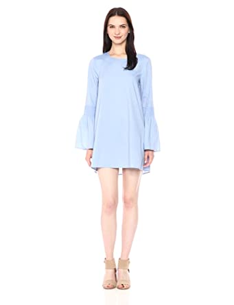 BCBGeneration Women's Smocked Sleeve Shift Dress, Light Blue, X-Small