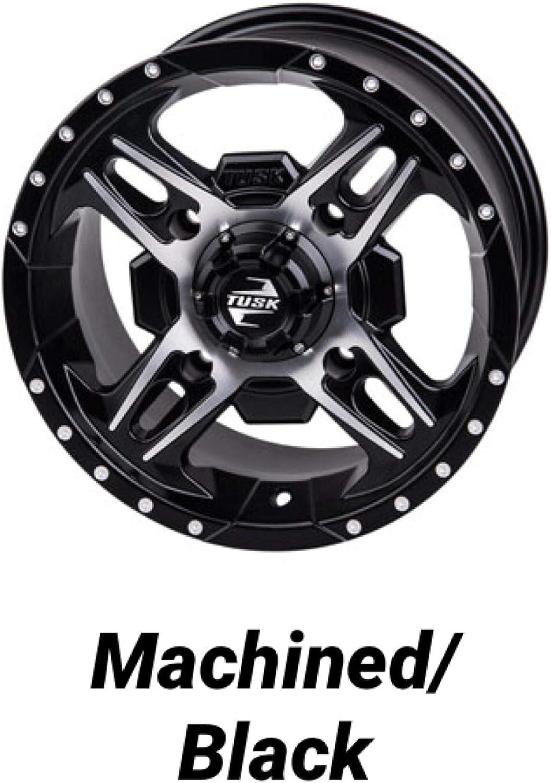 5+2 Offset, Matte Black Bundle Package- One 28x10-14 Tusk Terrabite Tire on One Tusk Beartooth Wheel Can-Am X3 Maverick Commander Defender 4//137 Bolt Pattern