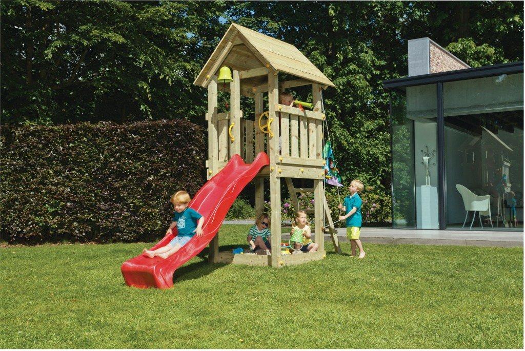 Spielturm Kiosk - Blue Rabbit 2.0 - Podesthöhe 120cm mit Rutsche 240 cm Pfosten 9x9cm