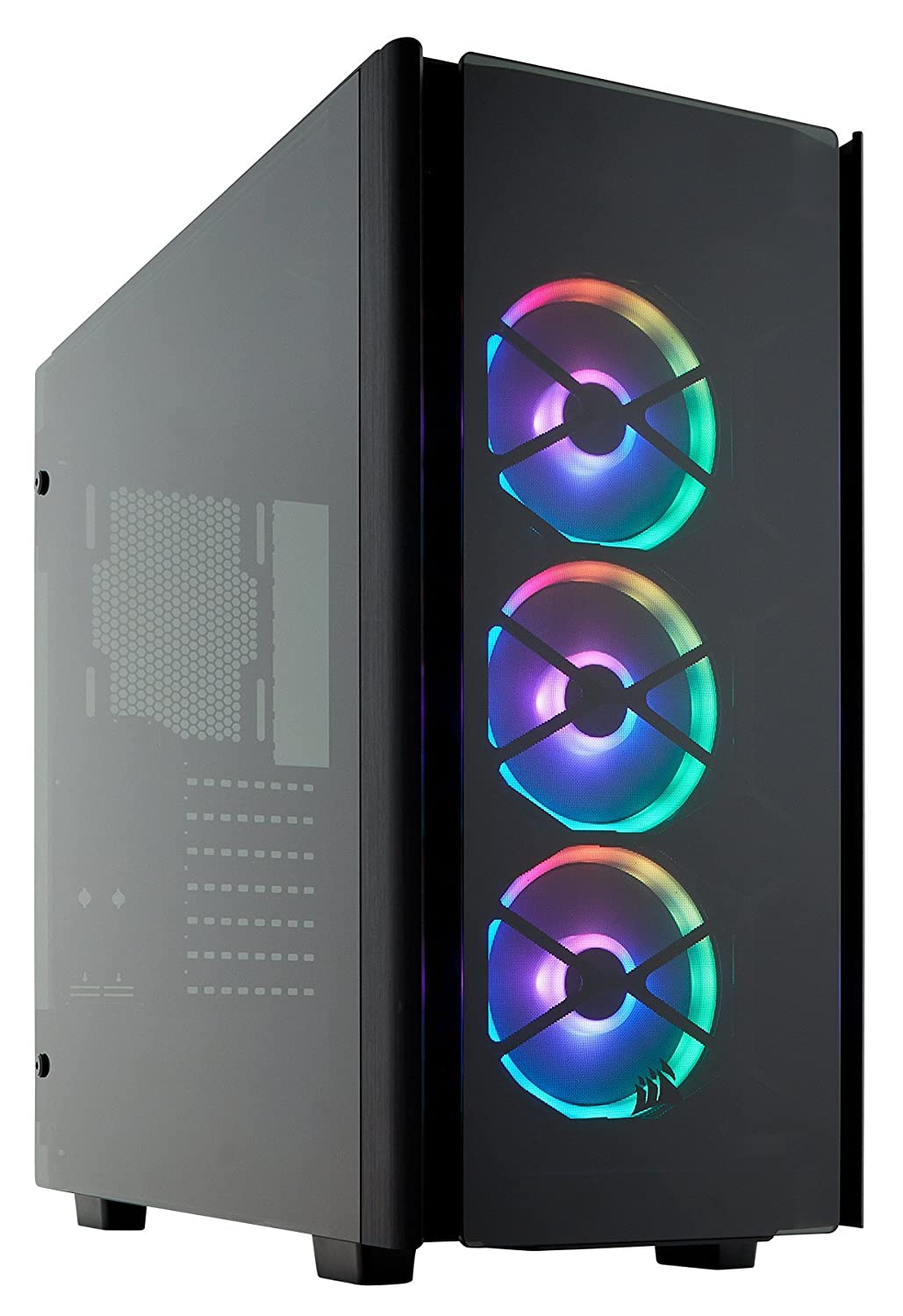 CORSAIR Obsidian 500D RGB SE Mid-Tower Case, 3 RGB Fans, Smoked Tempered Glass, Aluminum Trim - Integrated Commander PRO Fan and Lighting Controller