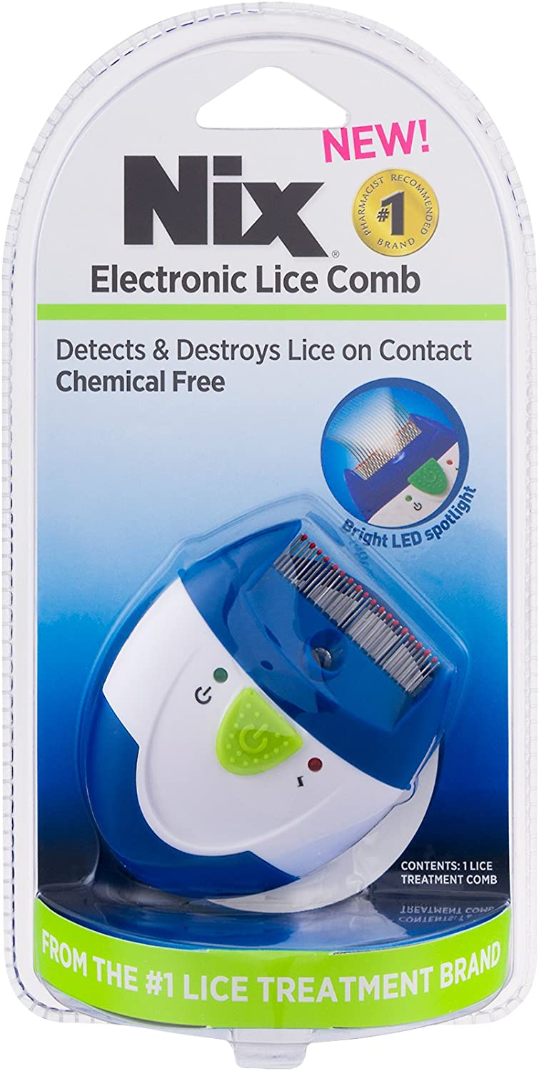 Nix Electronic Lice Comb | Detects and Destroys Lice on Contact | Chemical-Free