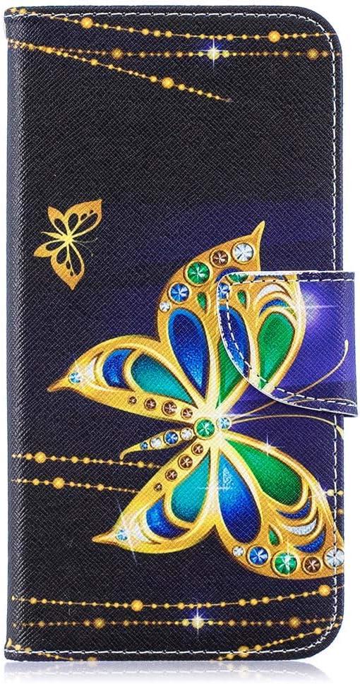 Motif de Papillon en Relief 3D /Étui /à Rabat Folio Magn/étique Pochette Portefeuille en Cuir Antichoc Housse de Protection Rose THRION Coque pour Samsung Galaxy A10S