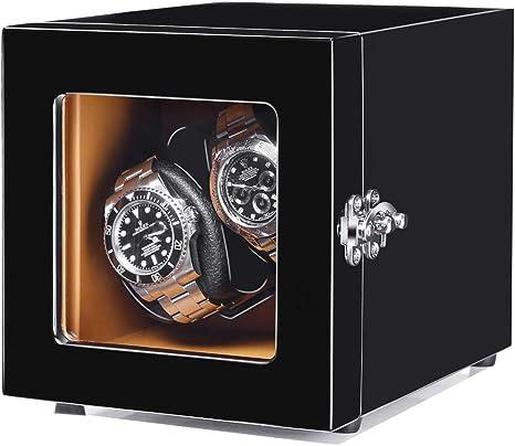 Caja para Relojes Automáticos, Cajas De Almacenamiento De Enrollador De Reloj Automático Doble Estuche De Enrollamiento De Reloj Adecuado para Reloj para Damas Y Hombres: Amazon.es: Deportes y aire libre