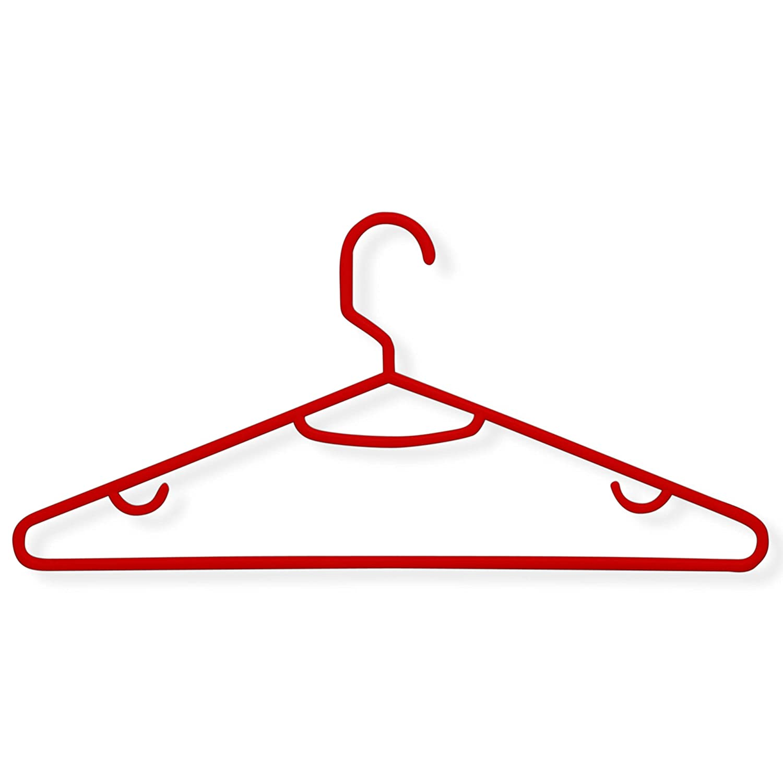 60 Pack White Honey-Can-Do HNGZ01523 Brilliant Plastic Hangers