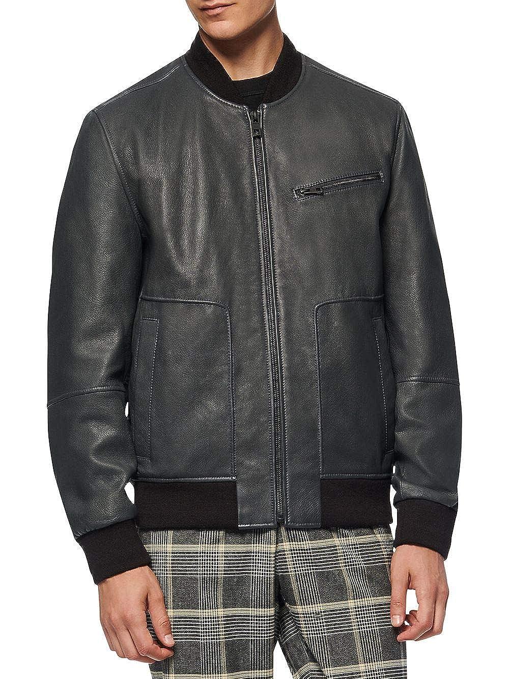 [アンドリューマーク] メンズ ジャケット&ブルゾン Praslin Leather Bomber Jacket [並行輸入品]  Large