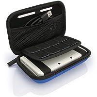 igadgitz Blau EVA Hart Tasche Schutzhülle fur Neu Nintendo 3DS XL (Alle Versionen) & 2DS XL 2017 Etui Case Cover mit Tragegurt