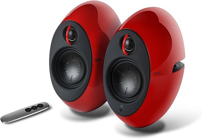 Edifier Luna E25 Design Lautsprecherset Mit Bluetooth 74 Watt Rot Audio Hifi