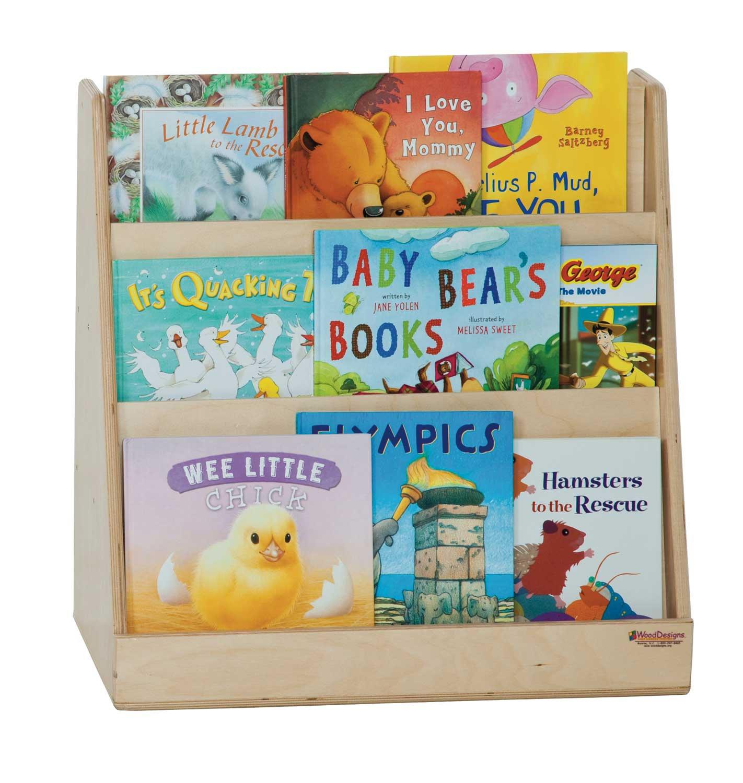 H x W x D Wood Designs WD32100 Tot Size Book Display 25 x 24 x 12