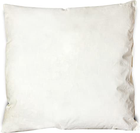 Home & Fashion Muelle Cojín 43 x 43 cm, 100% plumas de ganso | 100% algodón | Cojín 350 g Relleno | para dormir, almohada, – Cojín decorativo, sofá cojín, Cojín relleno, relleno cojín, almohada: Amazon.es: Hogar