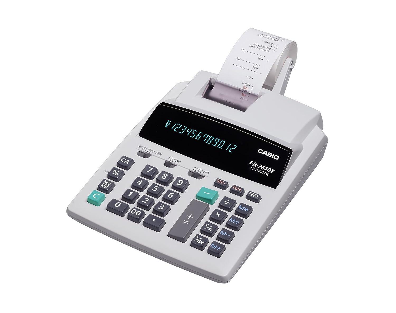 Calculadora Impresora CASIO FR-2650T - 12 dígitos, Memoria ...