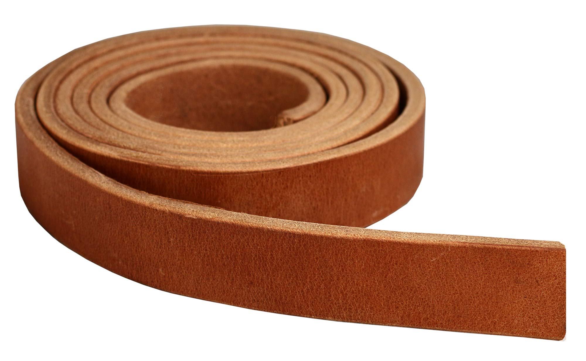 Premium Hermann Oak Harness Leather Blank Strap, 100% Leather Strip, 13 Ounce Weight [13/64'' or 5.2 MM Thickness] Fully Finished & Leveled, Natural Russet Color, Great for Tack Repair - 1.5''x 84''