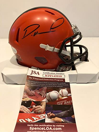 Image Unavailable. Image not available for. Color  DENZEL WARD AUTOGRAPHED  SIGNED CLEVELAND BROWNS MINI HELMET JSA COA a18db371f