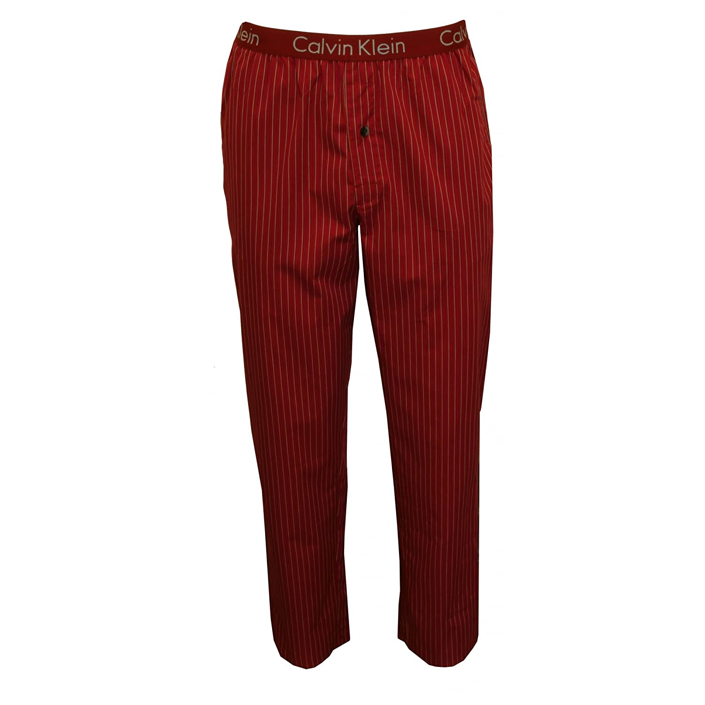 Calvin Klein Jersey De Manga Larga Y Pijamas Fondos Tejidos Hombres Set, Gris/rojo Pequeño: Amazon.es: Ropa y accesorios