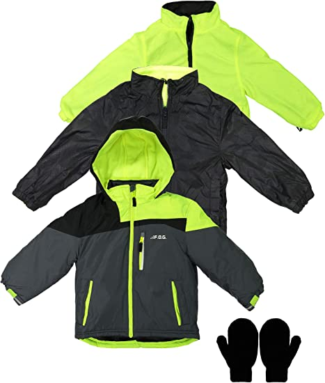 London Fog Boys' 4 in 1 System Jacket Winter Coat