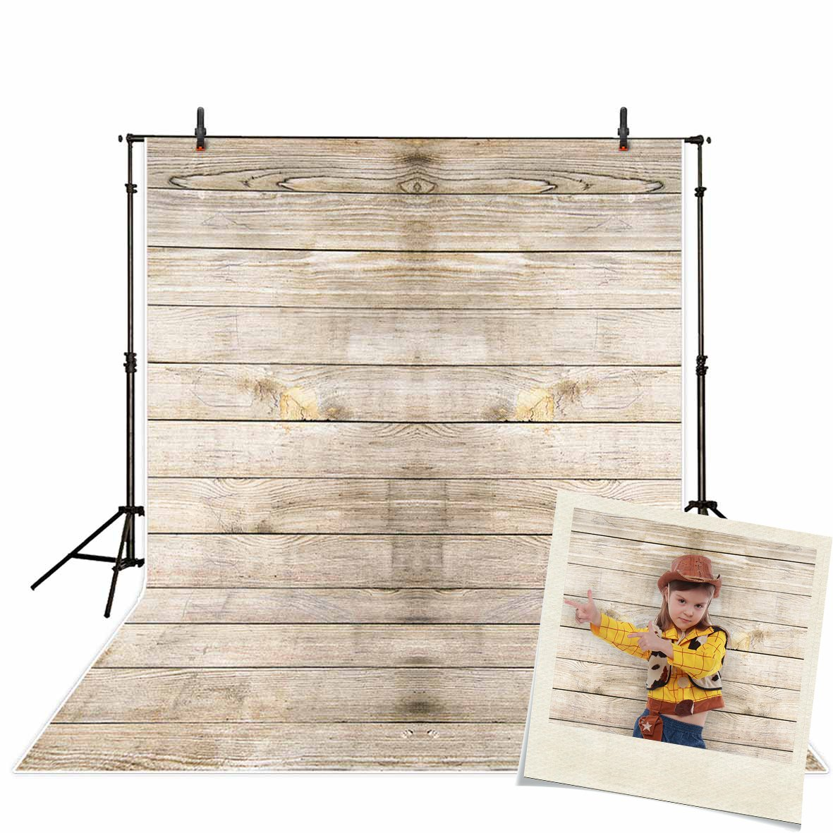 Funnytree 5x7ft Vinyl Photography Background Backdrops Wooden Board Child Baby Shower Photo Studio Prop photobooth Photoshoot by Funnytree