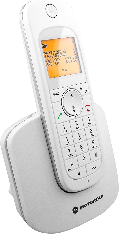 D1001w Motorola Teléfono Inalámbrico Blanca (Importado): Amazon.es: Electrónica